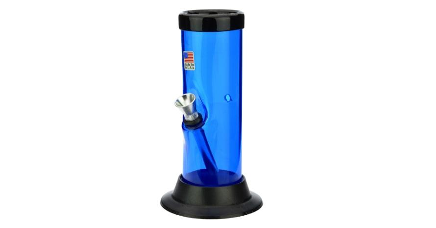 Acrylic Straight Bong Blue