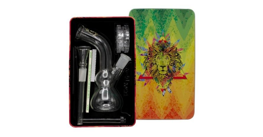 Amsterdam-Greenline-Glass-Bong-Gift-Set