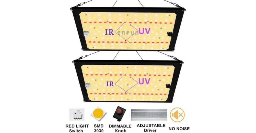 EnFun Updated 2000w Led Grow Light
