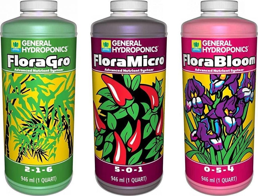 General Hydroponics Floragro, Florabloom & Floramicro Fertilizer