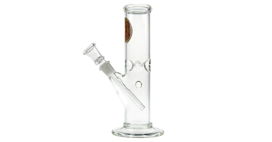 Glass Straight Mini Ice Bong