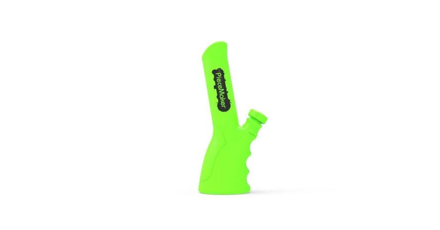 PieceMaker Kolt Silicone Grip Bong Green