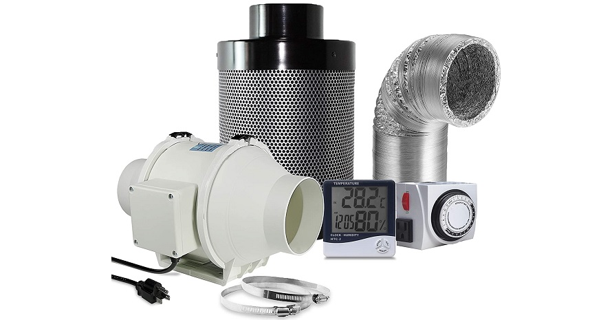 PrimeGarden 4'' Inline Duct Ventilation Fan