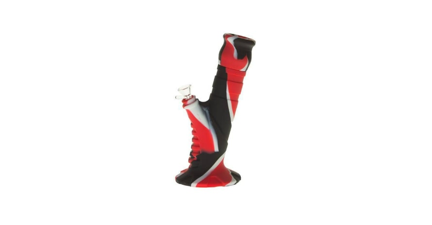 Silicone 2 pc Herb Bong Red and Black