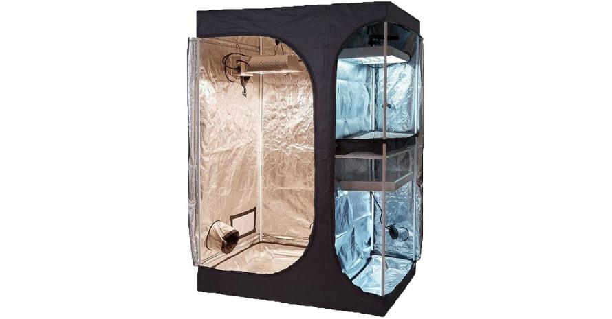 TopoGrow 2-in-1 Indoor Grow Tent