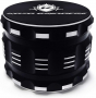 Kozo Best Herb Grinder. Large 4 Piece, 2.5 Black Aluminium