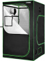 VIVOSUN Mylar Hydroponic Grow Tent with Observation Window and Floor Tray