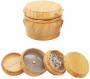 Wooden Herb Grinder, Classic Yellow Wood Herb Grinder, 1.6 inches 4 Piece Herb Spice Grinders with Pollen Catcher